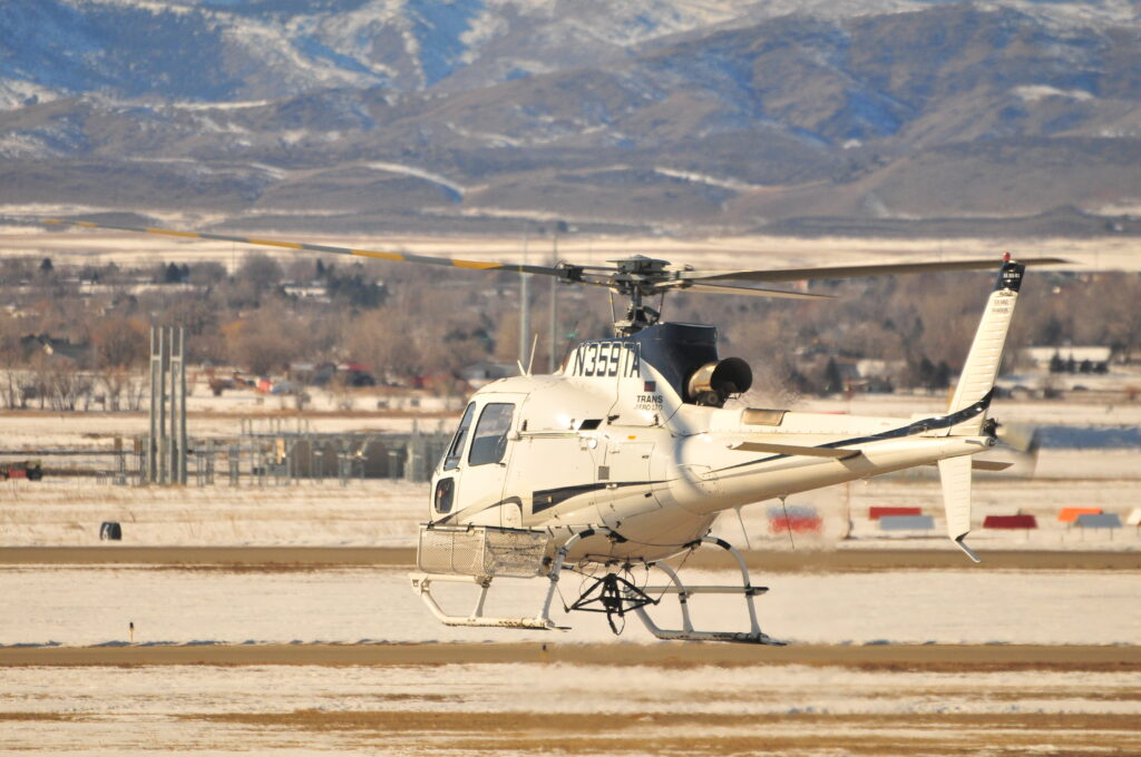 AS350 B3 helicopter in flight